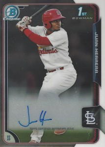 2015 Bowman Baseball Chrome Prospect Autographs Guide 18