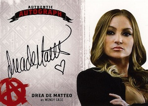 2015 Cryptozoic Sons of Anarchy Seasons 4 and 5 Autograph Drea de Matteo Wendy Case