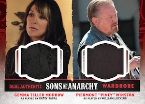 2015 Cryptozoic Sons of Anarchy Seasons 4 and 5 Dual Wardrobe Cards