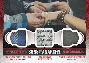 2015 Cryptozoic Sons of Anarchy Seasons 4 and 5 Triple Memorabilia Cards