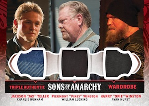 2015 Cryptozoic Sons of Anarchy Seasons 4 and 5 Triple Wardrobe Cards