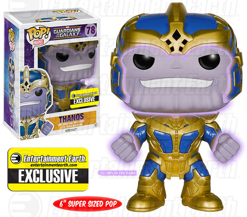 2015 Funko Pop Guardians of the Galaxy Series 2 78 Thanos Glow in the Dark
