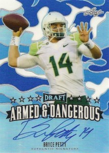 2015 Leaf Metal Draft Armed and Dangerous Autographs Blue Bryce Petty
