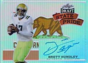 2015 Leaf Metal Draft State Pride Autograph Brett Hundley
