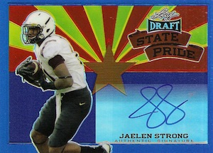 2015 Leaf Metal Draft State Pride Autographs Jaelen Strong