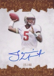 2015 Leaf Ultimate Draft Football Base Bronze Autograph Jameis Winston