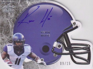 2015 Leaf Ultimate Draft Football Die-Cut Helmet Autographs Kevin White