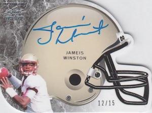 2015 Leaf Ultimate Draft Football Helmet Silver Autograph Jameis Winston