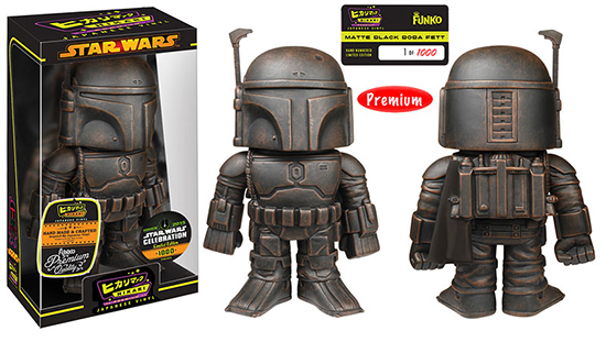 2015 Star Wars Celebration Funko Boba Fett Black Matte Hikari