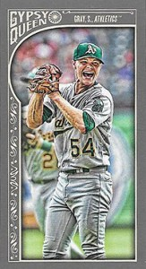 2015 Topps GQ Mini Var 182 Sonny Gray