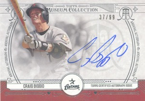 2015 Topps Museum Collection Baseball Archival Autographs Craig Biggio
