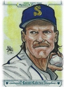 2015 Topps Museum Collection Baseball Canvas Reprint Randy Johnson