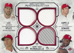 2015 Topps Museum Collection Baseball Four Player Primary Pieces Quad Relic Phillies