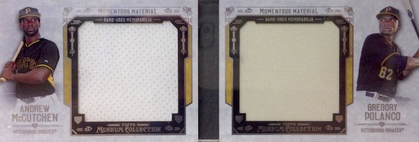 2015 Topps Museum Collection Baseball Momentous Material Dual Jumbo Relic Book