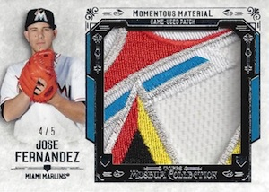 2015 Topps Museum Collection Baseball Momentous Material Jumbo Patch Relic