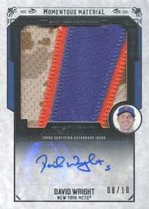 2015 Topps Museum Collection Baseball Momentous Material Jumbo Relic Autographs