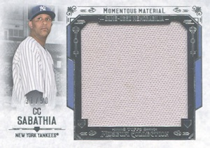 2015 Topps Museum Collection Baseball Momentous Material Jumbo Relic