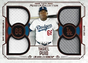 2015 Topps Museum Collection Baseball Primary Pieces Quad Relic Copper Puig