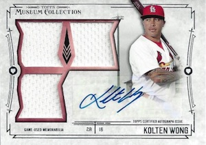 2015 Topps Museum Collection Baseball Primary Pieces Triple Relic Autograph