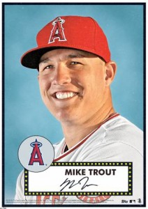 2015 Topps Tribute 52 Mike Trout Poster