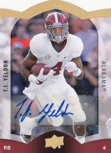 2015 Upper Deck A Cut Above Autograph TJ Yeldon