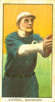 1909-11 1909 T212 Obak Baseball Chick Charles Gandil