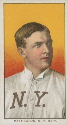 1909-11 T206 White Borders Baseball Christy Mathewson