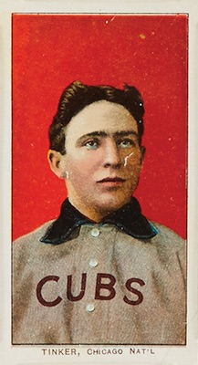 1909-11 T206 White Borders Baseball Joe Tinker