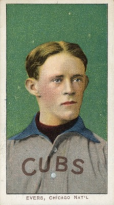 1909-11 T206 White Borders Baseball Johnny Evers
