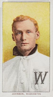 1909-11 T206 White Borders Baseball Walter Johnson