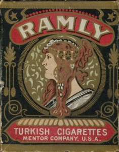 1909 T204 Baseball Ramly Cigarettes Box
