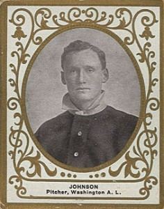 1909 T204 Ramly Baseball Walter Johnson