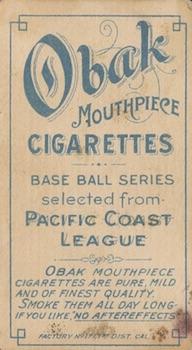 1909-11 T212 Obak Baseball Cards 4