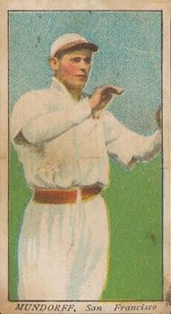 1909 T212 Obak Baseball Mundorf front