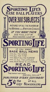 1910-11 M116 Sporting Life Baseball Back Type 3