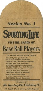 1910-11 M116 Sporting Life Baseball Cards Series 1 Envelope