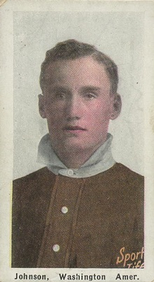 1910-11 M116 Sporting Life Baseball Walter Johnson