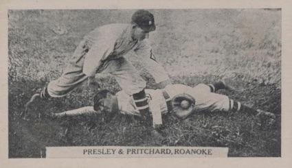 1910 T209 Contentnea Photo Series Baseball Presley Pritchard