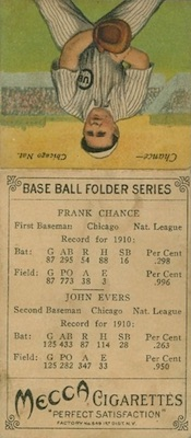 1911 T201 Mecca Double Folders Baseball Cards 24