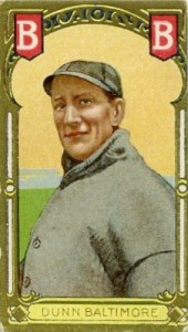 1911 T205 Gold Border Baseball Dunn