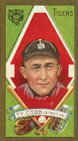 1911 T205 Gold Border Baseball Ty Cobb
