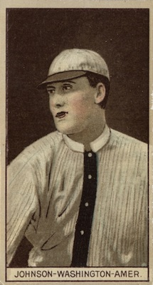 1912 T207 Baseball Walter Johnson