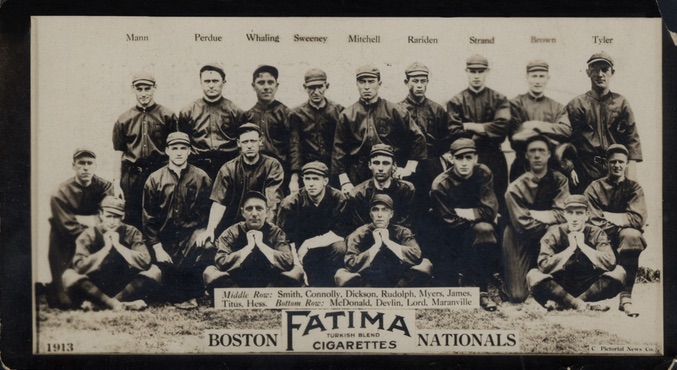 1913 T200 Fatima Baseball Boston Braves Nationals