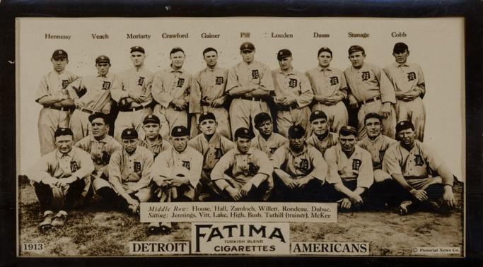 1913 T200 Fatima Baseball Detroit Tigers Americans