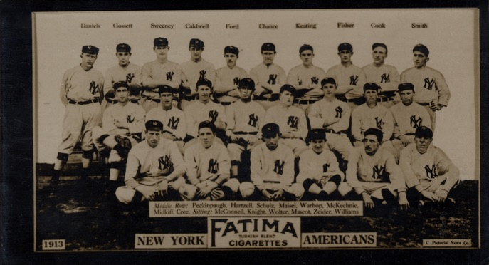 1913 T200 Fatima Baseball New York Yankees Americans