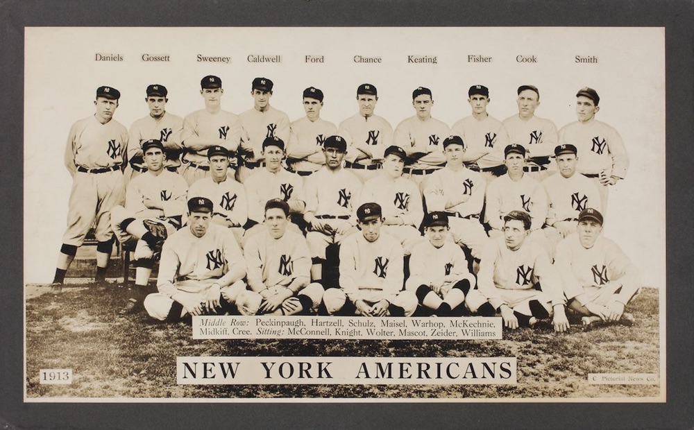 1913 T200 Premium Fatima Baseball New York Yankees Americans Large