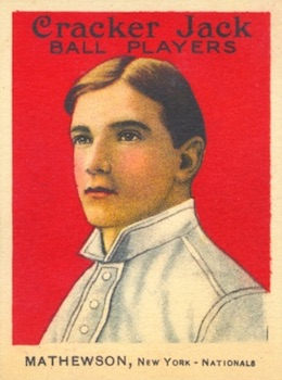 1915 Cracker Jack Baseball Christy Mathewson