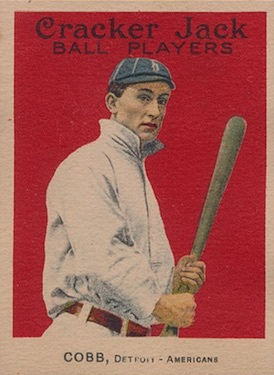 1915 Cracker Jack Baseball Ty Cobb front