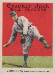 1915 Cracker Jack Baseball Walter Johnson