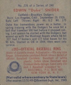 1949 Bowman Baseball Cards 4